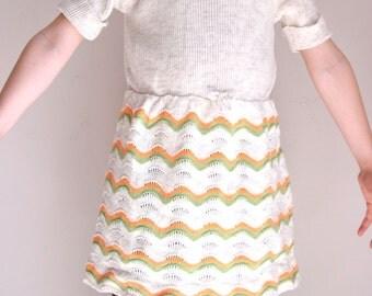 Vintage girls knit dress 6T