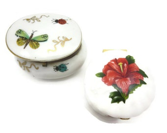 Miniature Limoges Style Boxes - Aynsley Porcelain