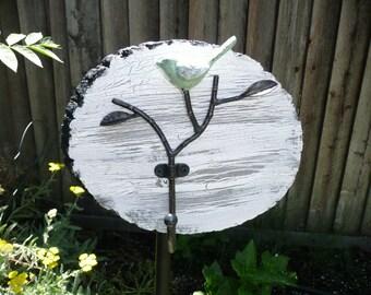 Yard Art Tool Holder - white