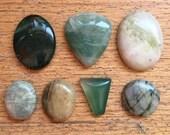 Heart Chakra Stones // Green Gemstones // Semi-Precious Stone Cabs // Bloodstone // MEtalsmith // Serene Tranquil Stones // Reiki Healing