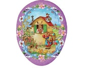 Made In Germany Papier Paper Mache Easter Egg Box  4.5 Inch  #744 S