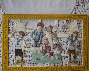 England Victorian Children Die Cut Paper Scraps Out Of Print  A 38
