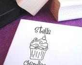 Cutie Cupcake Customized Name Stamp