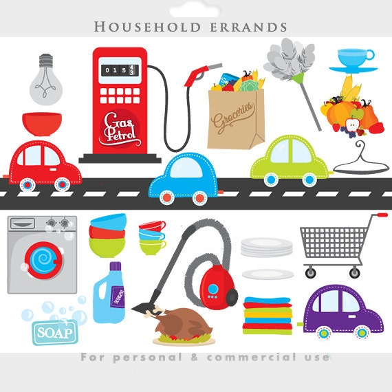 Household Stores: Household Clipart Chores Clip Art Road Cars Shopping