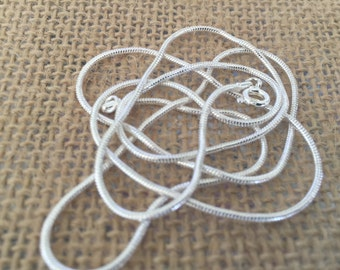 Sterling silver plate snake chain necklace 26 or 18 inches 2mm