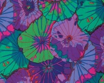 Kaffe Fassett Lotus Leaf Purple Fabric 1 yard
