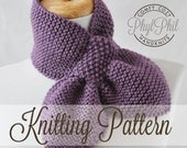 KNITTING PATTERN - The Original Stay Put Scarf - Pull Through Keyhole Scarf - PDF