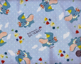 Half Yard Japanese Cotton Fabric Disney Dumbo Circus 3 Styles to choose