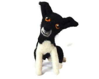 Custom Dog Sculpture - Example Needle felted Border Collie - Border Collie Art - Border Collie Sculpture