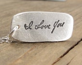 Gift for Women - Jewelry - Handwritten Necklace - Memorial Jewelry - Handwriting on Silver - Personalized Jewelry - Handwriting Jewelry