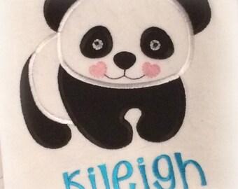 Valentine Panda Bear Embroidery Applique Design