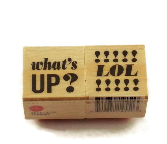 Mini Rubber Stamp Set Whats Up