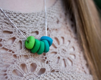 Polymer Clay Ombre Necklace