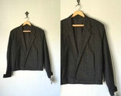 Vintage MODERNIST Jacket • 1980s 1990s Clothing •Black New Wave 80s 90s Bomber Coat Blazer Made In USA New • Mens Women Unisex Medium Large