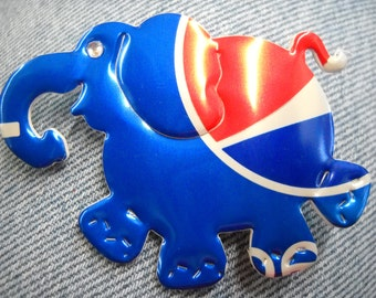 Pepsi Elephant Magnet Made from Recycled  Can