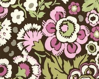 Fabric 1 Yard Amy Butler Deco Rose Daisy Chain Pink Green