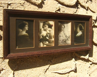 Silent Film Star Collection Sepia Photographs All Original 4 Framed Photos Actresses Actress Back Thennish Vintage