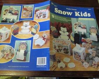 Winter Holiday Plastic Canvas Patterns Snow Kids The Needlecraft Shop 842931  Plastic Canvas Leaflet
