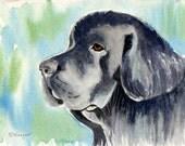Newfoundland Dog Art, Original Watercolor Painting, Dog Painting, Newfoundland Dog Painting, Gentle Giant Dog, Dog Home Decor, Wall Art