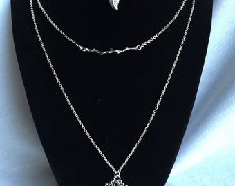 Layered Necklaces, Lotus Flower, Leaf and Branch Necklaces