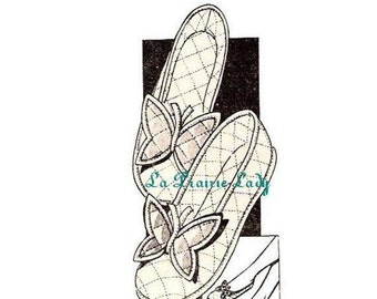 Repro Vintage Mail Order 50s Slippers No 2 PDF Pattern