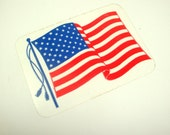 Vintage United States American Flag Sticker, USA, Patriotic, Americana, Red, White, Blue American Flag  (351-15)