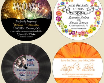 Round save the date magnets (free ship)