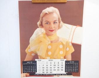 Vintage Victor Keppler Photography Calendar Poster..for Timken Bearings April 1958..Vintage Advertising Calendar Poster