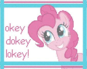 Okey Dokey Lokey! Pinkie Pie Cross-Stitch pattern
