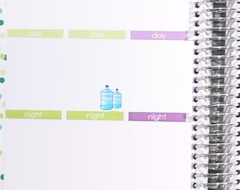 Water Delivery Reminder Stickers Printable - Rainbow Solids - Instant Download - to fit your Erin Condren Weekly Boxes