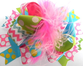 OTT  Polka Dot  Bow Hair bow Over the Top Boutique Style