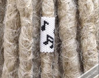 Music Notes Dread Cuff - Dreadlock Accessory - Loc Jewelry - Hair Bead