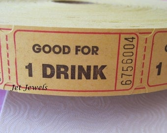 100 Drink Tickets, Good for One Drink, Free Drink Ticket, Alcohol Drink Ticket, Wedding Reception, Host Bar, Yellow Tickets