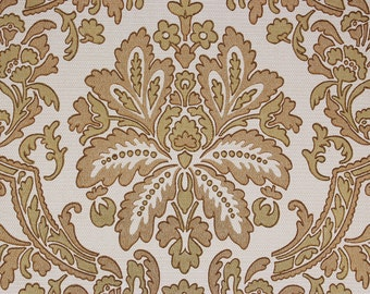 1960's Vintage Wallpaper Gold Metallic Damask--Made in England