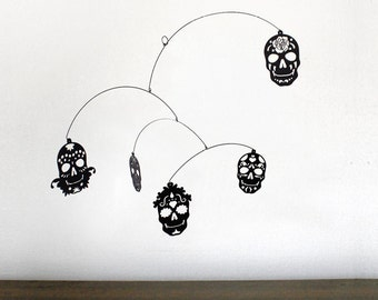 Hanging Mobile | DIA de LOS MUERTOS (Day of the Dead sugar skull design)