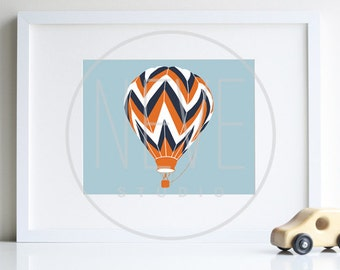 Hot Air Ballon Transportation wall art by nevestudio - different colors and sizes available