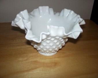 Fenton milk glass dish