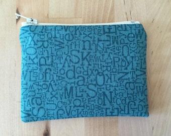 Letters Coin Purse - Change Purse Zipper Pouch