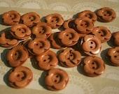 """Flower Wooden Buttons - Wood Flower Petals Button - 3/4"""" - 24 Buttons"""