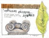 National Gardens, Athens ~ original watercolor
