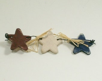 Star Bunting Red White Blue Americana 1:12 Dollhouse Miniatures Artisan