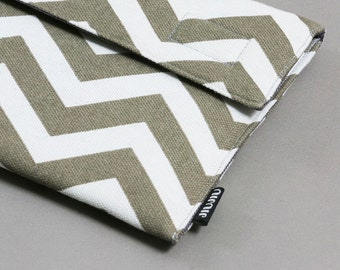 iPad mini Case/Kindle Cover/eReader Sleeve. Custom Made Tablet cover, Chevron.
