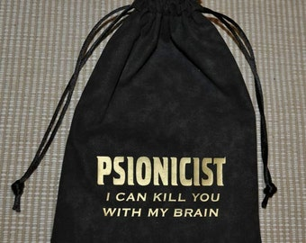 Dungeons and Dragons PSIONICIST game dice bag