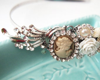 Cameo Couture Cluster Headband -  Bridal Sweet