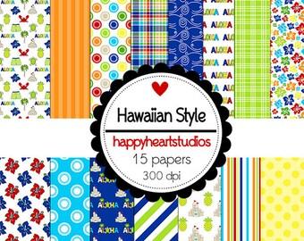 DigitalScrapbook-HawaiianStyle-INSTANTDOWNLOADl