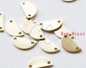 30pcs Raw Brass Moon Link - Crescent - Half Circle 10x5mm (1988C-P-333)