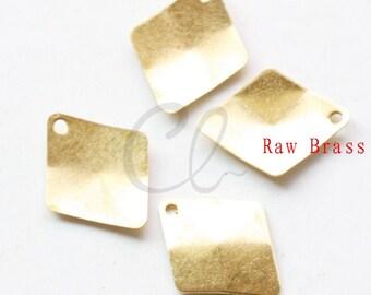 100pcs Raw Brass Diamond Link - 15x12mm (2017C-F-490)