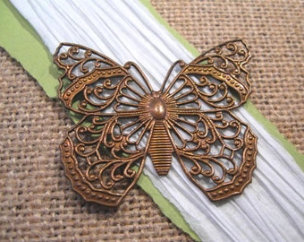 Filigree Butterfly Pendant from Trinity Brass in Vintage Patina