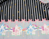 Merry go round Carousel Print one meter 100 cm by 106 or 39 by 42 inches