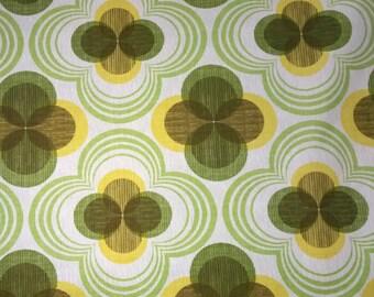 One (1) Yard -Auntie's Attic CANVAS Geometric design Robert Kaufman SRK-14504-134 Citrus